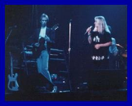 David and Eva on stage at the Bayou in 1988