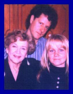 Eva with her Aunt Isabel and Chris Biondo, early 1990s.  Eva's sister Margret took this snapshot.