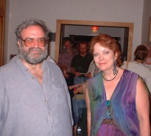 Critic Richard Harrington (seen here with Grace Griffith)