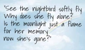 Lyric from Nightbird