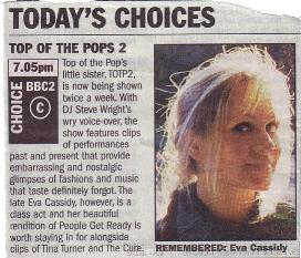 Article about Top of the Pops